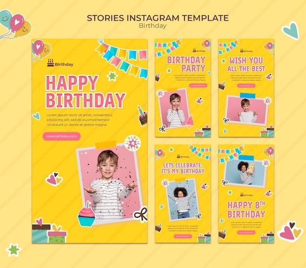 Histórias de feliz aniversário no instagram