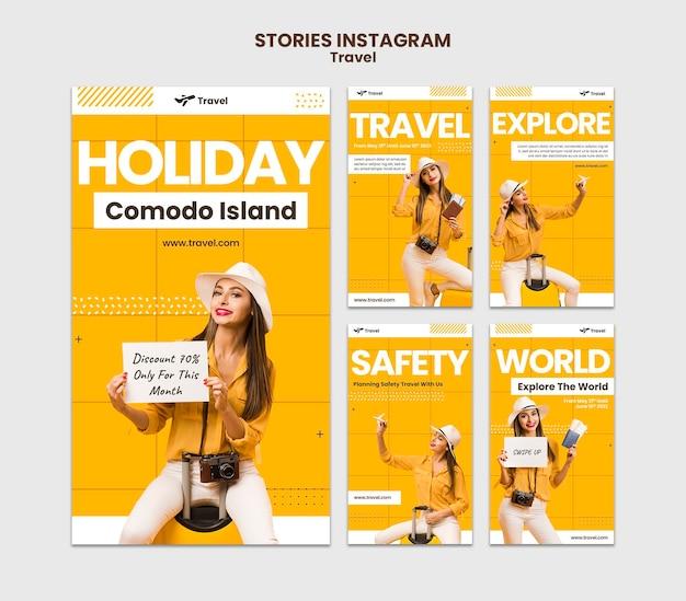 Histórias de férias no instagram