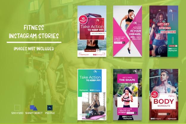 Histórias de fitness para instagram