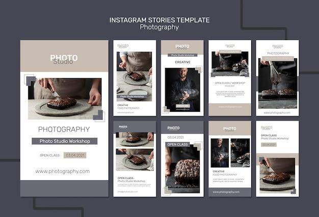 Histórias de fotografia no instagram