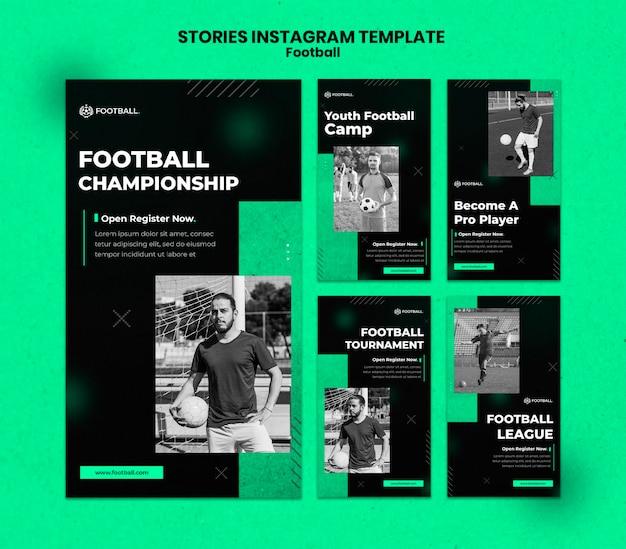 Histórias de futebol nas redes sociais