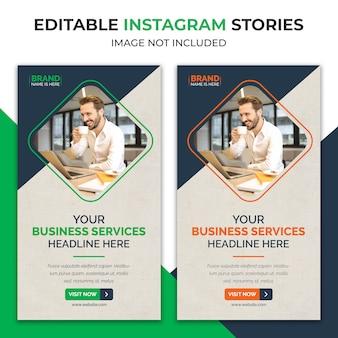 Histórias de instagram corporativas de agências de negócios