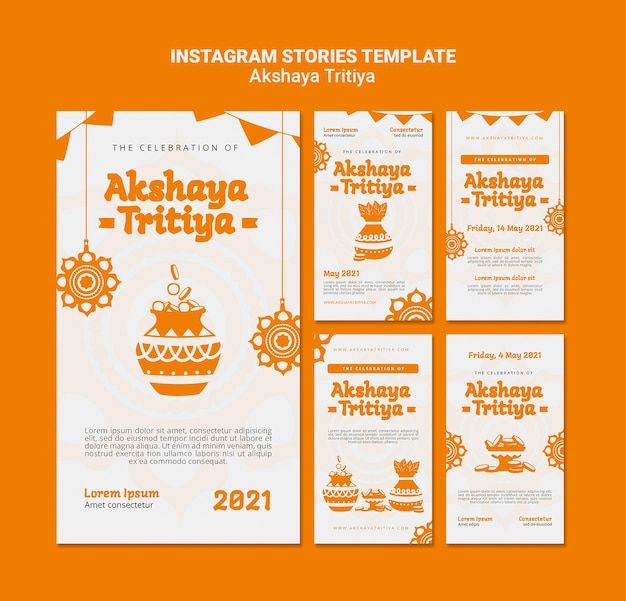 Histórias de instagram de akshaya tritiya Psd Premium