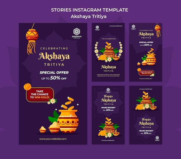 Histórias de instagram de akshaya tritiya