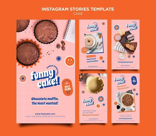 Histórias de instagram de bolo delicioso