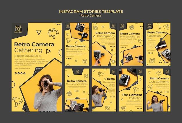 Histórias de instagram de câmera retro