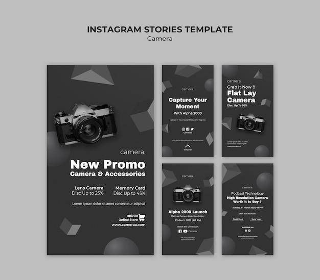 Histórias de instagram de câmeras