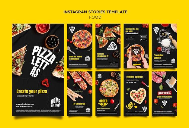 Histórias de instagram de comida italiana