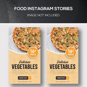 Histórias de instagram de comida