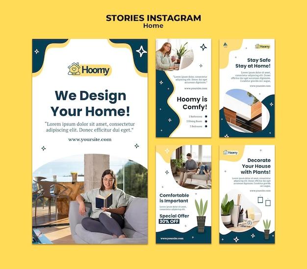 Histórias de instagram de design de casa
