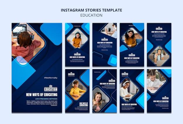 Histórias de instagram de educação