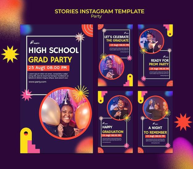 Histórias de instagram de festa de formatura do ensino médio