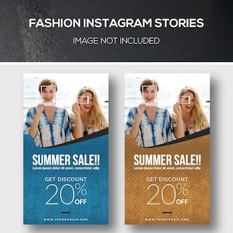 Histórias de instagram de moda