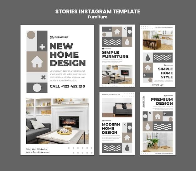Histórias de instagram de móveis