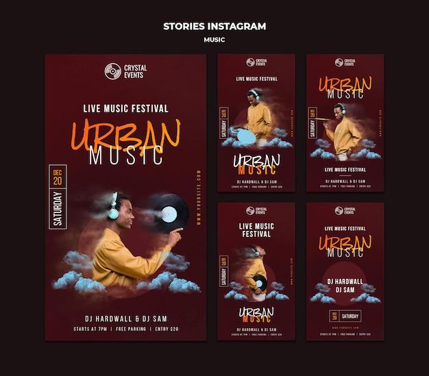 Histórias de instagram de música urbana