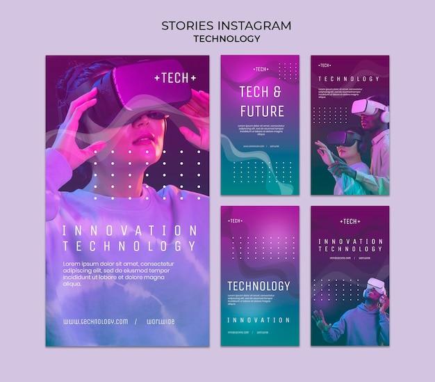 Histórias de instagram de óculos de realidade virtual