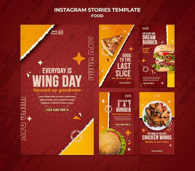 Histórias de instagram de restaurantes de fast food