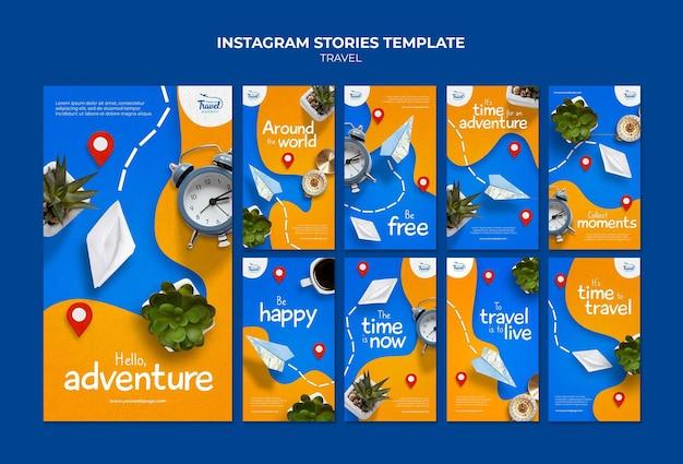 Histórias de instagram de tempo de viagem