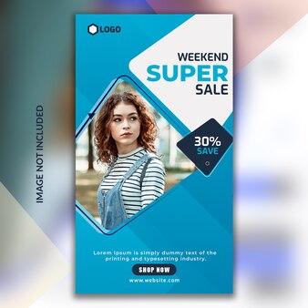 Histórias de instagram de venda de final de semana