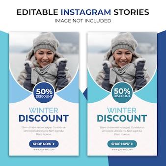 Histórias de instagram de venda de inverno