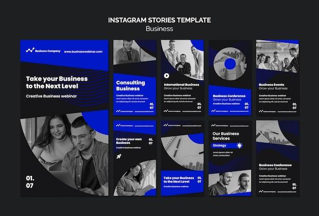 Histórias de instagram de webinar de negócios