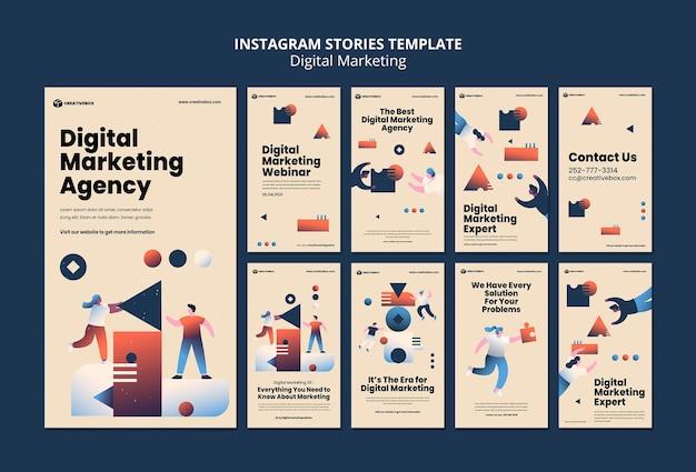 Histórias de marketing digital no instagram