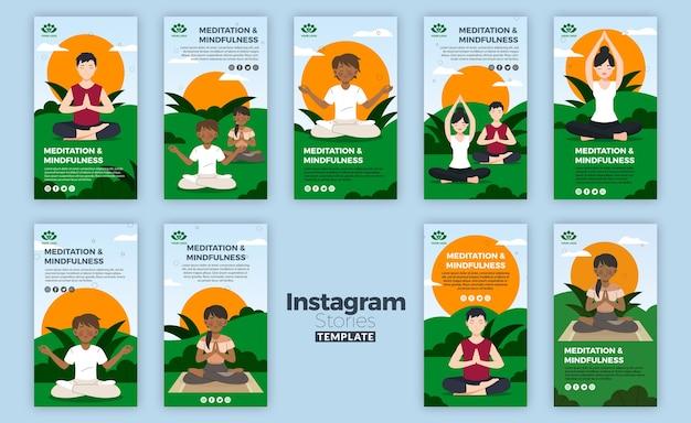 Histórias de meditação e atenção plena no instagram