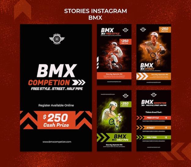 Histórias de mídia social bmx