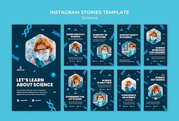 Histórias de mídia social científica
