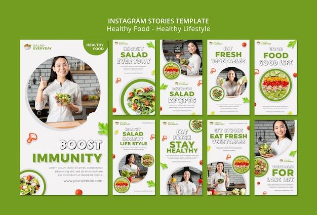 Histórias de mídia social de estilo de vida saudável