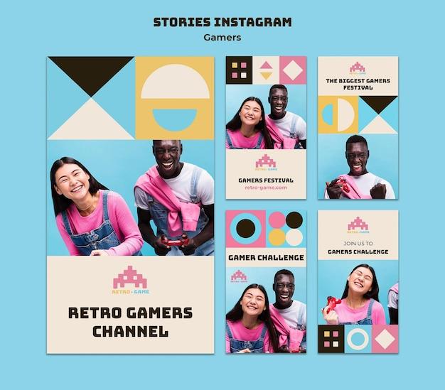 Histórias de mídia social de jogos retrô