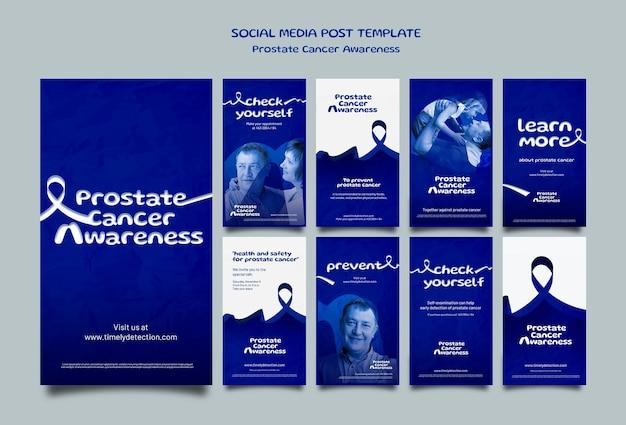 Histórias de mídia social de novembro azul