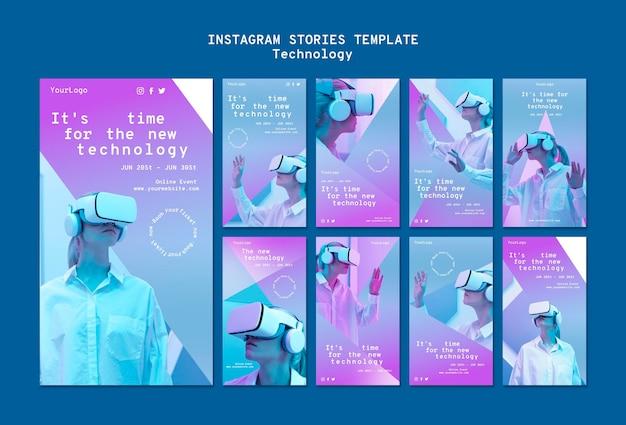 Histórias de mídia social de realidade virtual Psd grátis