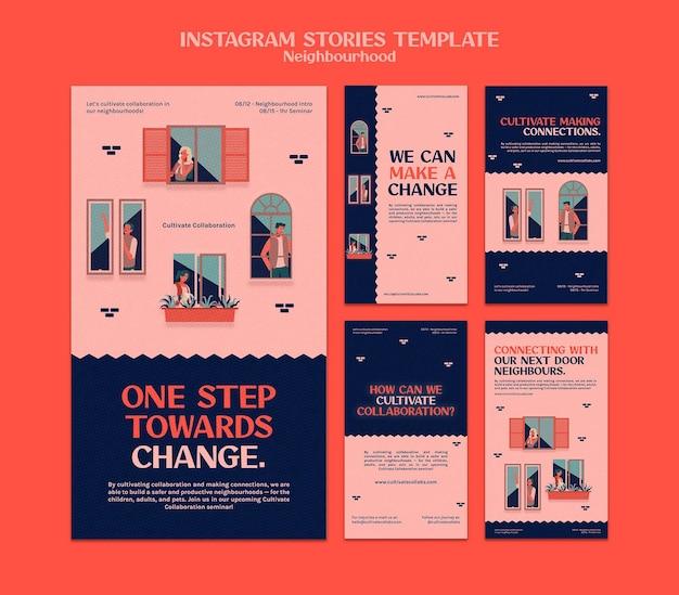 Histórias de mídia social de seminário de bairro
