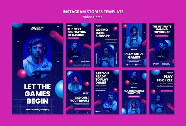 Histórias de mídia social de videogame