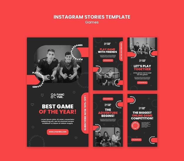Histórias de mídia social de videogames