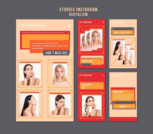 Histórias de mídia social digital