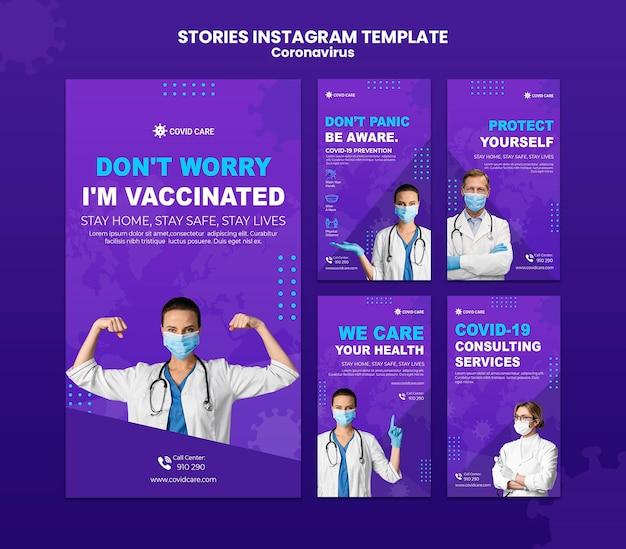 Histórias de mídia social do coronavirus