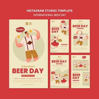 Histórias de mídia social do dia internacional da cerveja