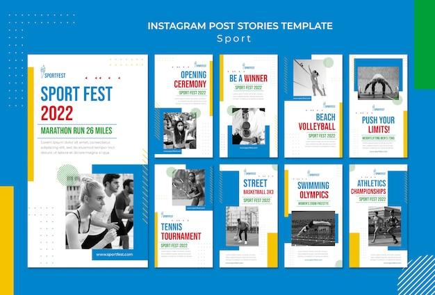 Histórias de mídia social do sport fest