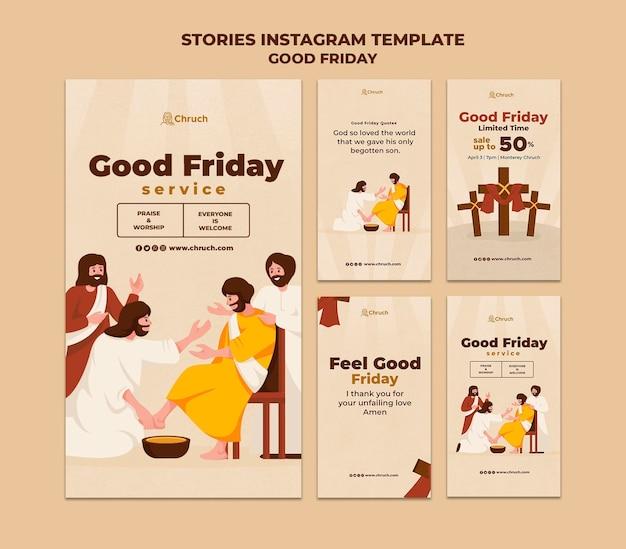 Histórias de mídia social na sexta-feira