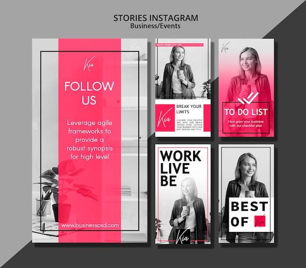 Histórias de mídia social para eventos de negócios