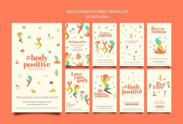 Histórias de mídia social positivas do corpo