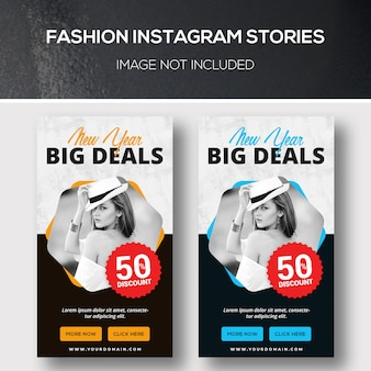 Histórias de moda do instagram