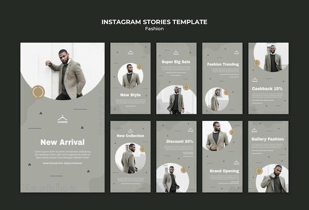 Histórias de modelo de loja de moda no instagram