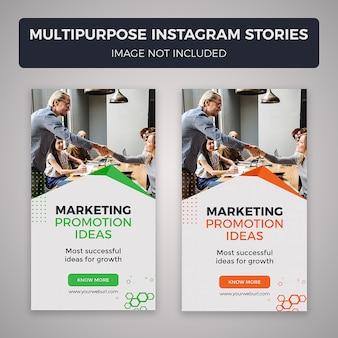 Histórias de múltiplos propósitos no instagram
