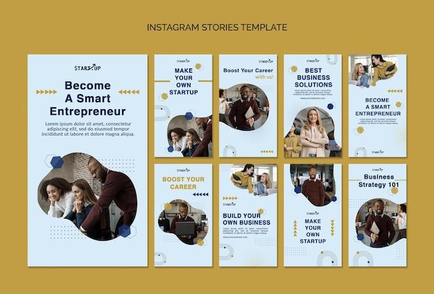 Histórias de negócios nas redes sociais