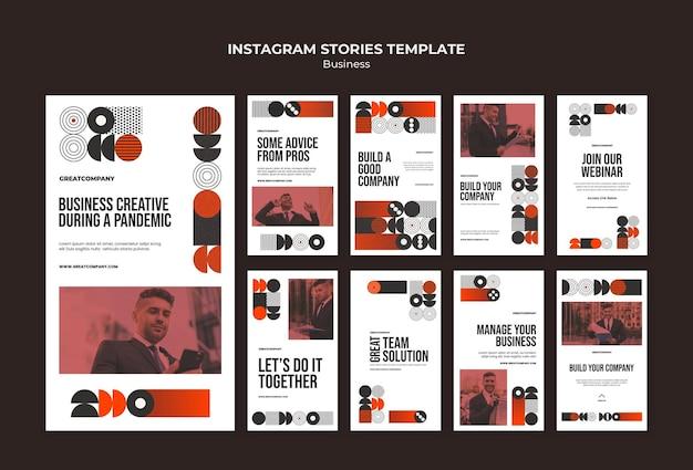 Histórias de negócios no instagram