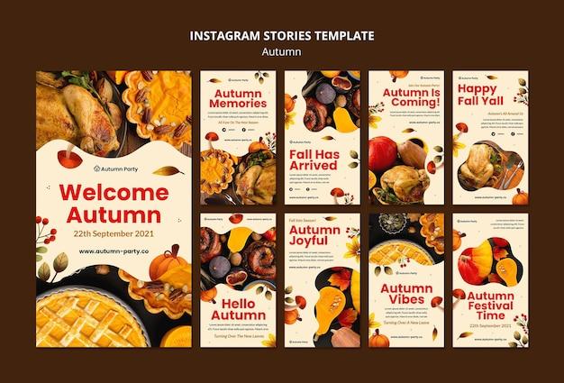 Histórias de outono nas redes sociais