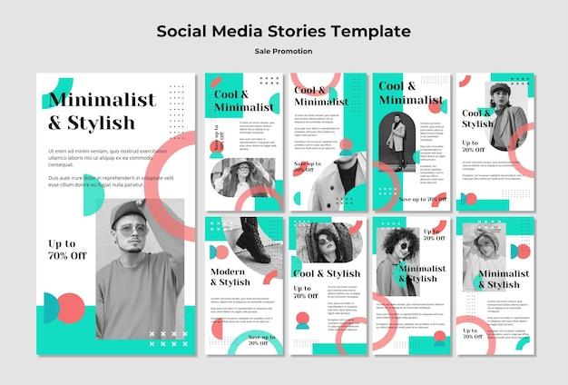 Histórias de promoção de vendas nas redes sociais